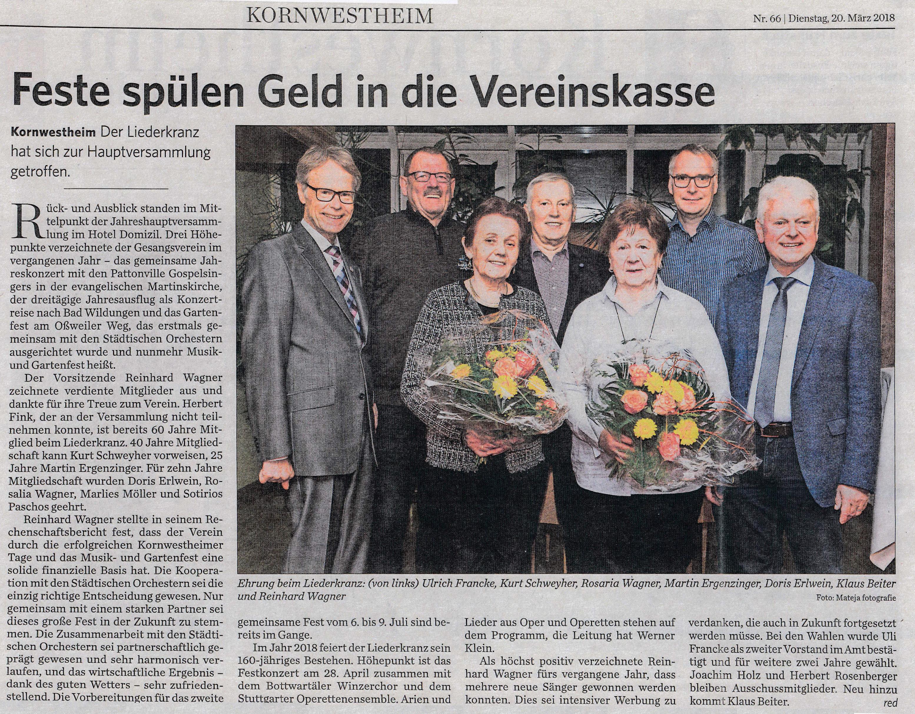 Pressebericht_Liederkranz Kornwestheim