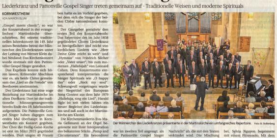 Zeitungsartikel Kirchenkonzert April 2017 Bearbeitet